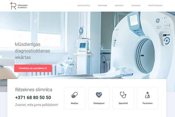 У Резекненской больницы появился веб сайт