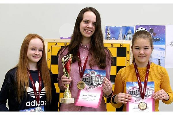 Анна Казмерик – чемпионка Латвии по шахматам