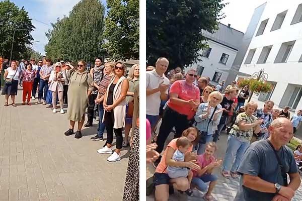 Сотни резекненцев вышли протестовать против обязательной вакцинации