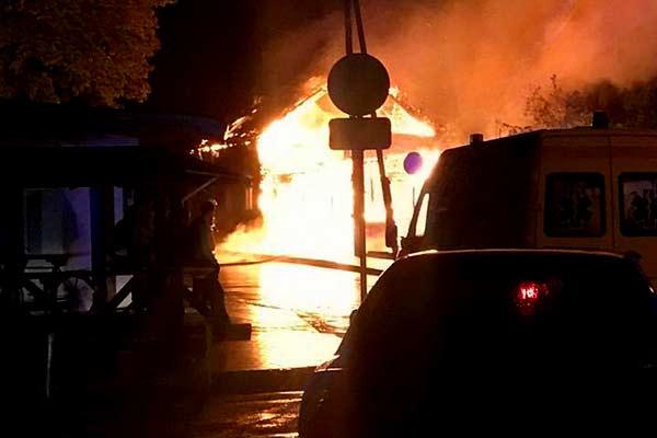В Резекне ночью произошел пожар повышенной опасности